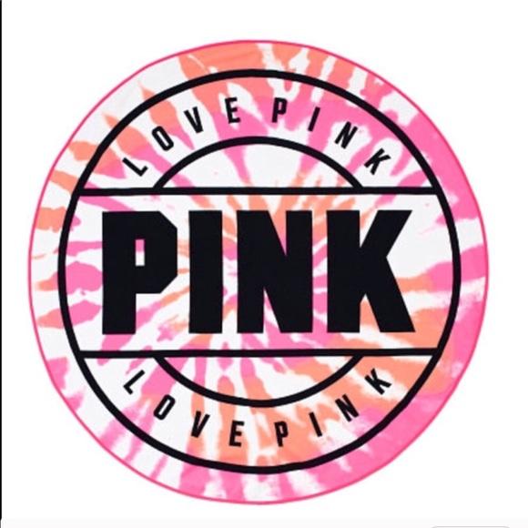 Pink Victoria S Secret Accessories New Vs Pink Circle Beach Towel